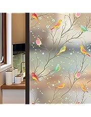 Lifetree glasschilderij raamfolie privacy melkglas film statische hechtende vogel