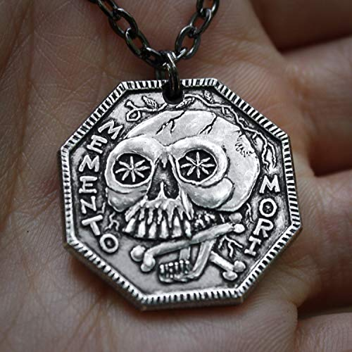 Memento Mori Silver Necklace