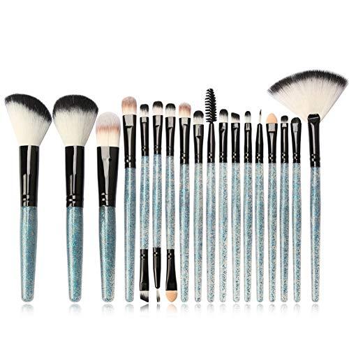 HOUXIAONI 18pcs Multifonctions Pro Cosmetic Powder Foundation Eyeshadow Eyeliner Lip Makeup Brushes Sets,5-OneSize