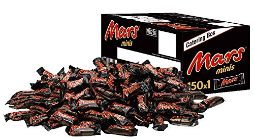 Mars Schokoriegel | Minis, Karamell | 150 Riegel in einer Box (150 x 18 g = 1 x 2,7 kg)