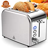 Toasters 2 Slice Best Rated Prime 1.5in Wide Slot with Bagel/Reheat/Cancel Function Stainless Steel Cool Touch...
