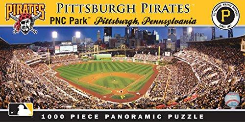 MasterPieces MLB Pittsburgh Pirates Stadium Panoramic Jigsaw Puzzle, PNC Park, 1000 Pieces