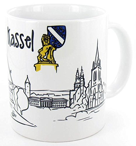 die stadtmeister Keramiktasse Skyline Kassel - als Geschenk für Kasseler, Kasselaner und Kasseläner oder als Kassel Souvenir