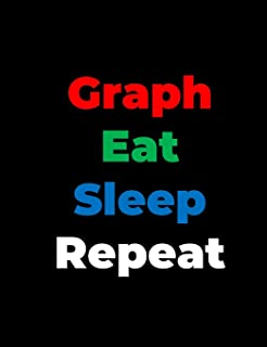 Graph Eat Sleep Repeat: Graph Paper Composition Notebook with 1/2-inch Grids