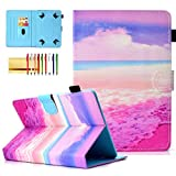 7 inc rca tablet case - Universal 7 inch Tablet Cover, Techcircle PU Leather Slim Folio Magnet [Card Slots] Stand Case for 6.5