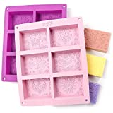 Image: Rectangle Silicone Soap Molds | Mixed Patterns | Soap Making Supplies by the Silly Pops