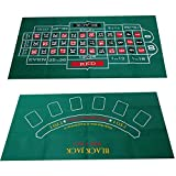 Tapis de Disposition de Table de Casino en Feutre, Feutre de Table, Motif Double Face, napperon imperméable en Tissu Polaire Nappe Roulette Blackjack Table de Jeu à Motif Double Face