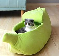 YUCHAO Creative Kennel Banana Shape Cat Litter Winter Warm Pet Nest, Size:XL(Yellow) (Color : Green)