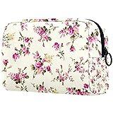 Bolsa de maquillaje personalizada para brochas de maquillaje, bolsas de aseo portátiles para mujeres, bolso cosmético, organizador de viaje, diseño de flores