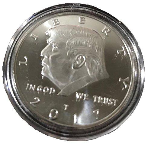 AmaMary Trump Gedenkmünzen, 2017 vergoldet Donald Trump Gedenkmünze 45. Präsident Sammler Geschenk Kunst Sammlung physisch (Silber münze)