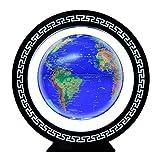 8 Pulgadas Magnetic Levitation Globe con Luces Color LED,Azul Levitacion Magnetica Flotante para Escritorio, Oficina, Decoración del Hogar, Los Niños Aprenden Conocimientos de Geografía