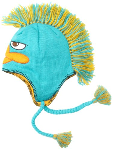 Disney Phineas And Ferb Perry Mohawk Peruvian Laplander Beanie Hat