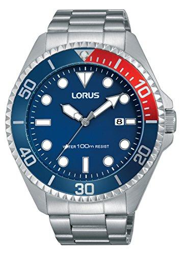 Lorus Sport Herren-Uhr Edelstahl mit Metallband RH941GX9