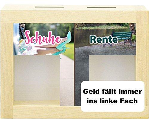 Trend Import Lustige Spardose aus Holz für Schuhe/Rente kreatives Geldgeschenk