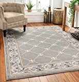 Patrician Trellis Grey Lattice Area Rug European French Formal Traditional Area Rug 8' x 11' Easy Clean Stain Fade Resistant Shed Free Modern Classic Contemporary Thick Soft Plush Living Dining Room