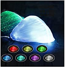 LED Light up Face Mask 7 Color Lights USB Rechargeable Glowing Luminous Mask for Party Festival Dancing Rave Masquerade Costumes(White)