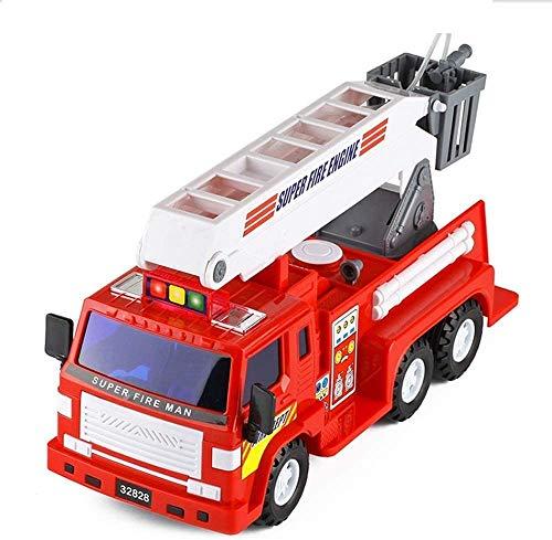 WANGCH Camión elevador a gran escala que se puede rociar Camión de bomberos Vehículo de ingeniería resistente a las caídas y al juego Camión de juguete para niños Camión en caja Carro de juguete Camió