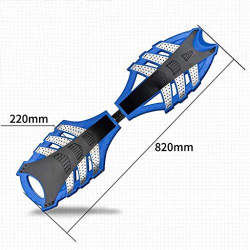 Sport Roller Mini Scooter Snake-Rad-Blitz-Rad-Kind Erwachsene Universal-Boden Eindickung 2-Rad-Auto-Vitalpension Scooter, Blau, 82 x 22 x 12 cm