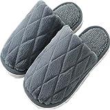 YCDZ Zapatillas De Algodón para Mujer, Otoño E Invierno, Suelas Gruesas, Lindas Parejas Domésticas, Zapatos De Algodón De Felpa para Que Los Hombres Se Mantengan Calientes (Azul Oscuro,44-45)
