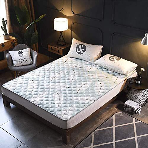 LXRZLS Tragbarer zusammenklappbarer Futon, Tatami-Matratze, dünne rutschfeste Matratzen, waschbare Faltung for Schlafzimmer-Wohnzimmer (Color : C, Size : 90x200cm(35x79inch))