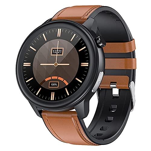 ZGZYL E80 Reloj inteligente Monitoreo de temperatura Fitness Tracker con presión arterial/oxígeno/ECG/Monitoreo de frecuencia cardíaca, reloj deportivo impermeable, F
