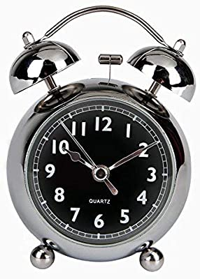 Wecker Retro Glockenwecker lauter Alarm kein Ticken ger/äuschlos SOFIALXC Doppelglockenwecker gro/ßes Zifferblatt von,Green,largeissue