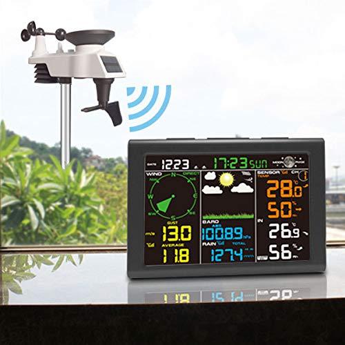 CWWHY Estación Meteorológica Solar, Estación Meteorológica WiFi Profesional, Estación Meteorológica Inalámbrica con...