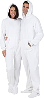Footed Pajamas - in The Clouds Adult Hoodie Chenille Onesie