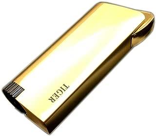 Piioket Metal Jet Torch Blue Flame Refillable Butane Gas Cigar Cigarette Lighter - Tiger Gold