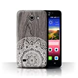 Stuff4 Phone Case for Huawei Ascend Y550 LTE Fine Lace Wood