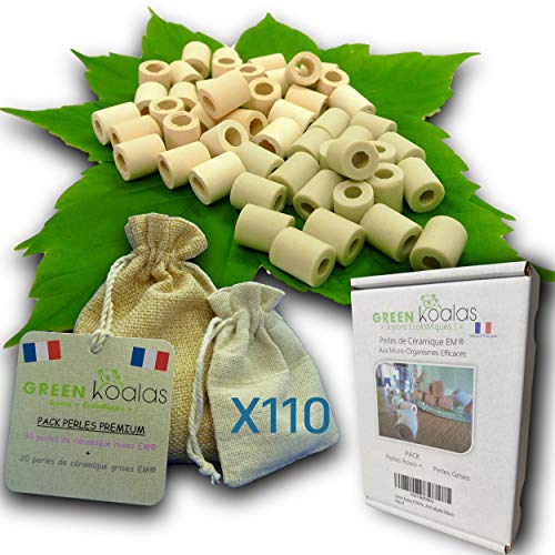 GREEN KOALAS X110 Cuentas de cerámica EM® Rosa X50 + Gris X60...