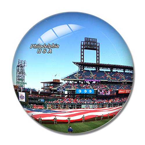 USA Amerika Baseball Phillies Philadelphia 3D Kühlschrank Kühlschrank Magnet Whiteboard Magnet Souvenir Kristallglas