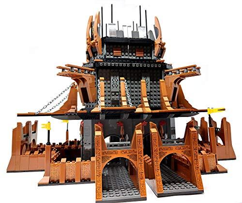 Modbrix Bausteine Ritterburg, Burg mit Ritter Figuren, 2419 Klemmbausteine, Konstruktionsspielzeug