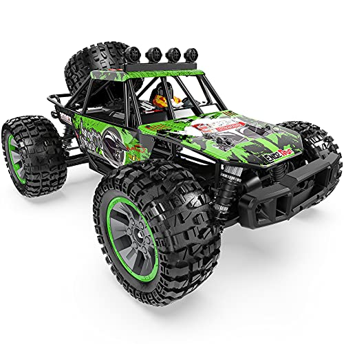BOIFUN RC Cars, Remote Control Trucks 1:10 Scale 4WD 48+km/h Fast High-Speed Off-Road Monster RC Trucks with Two 1700mAh Rechargeable Battery , 40+ Min Play, Toy Gift for Adults Kids Boys, Green