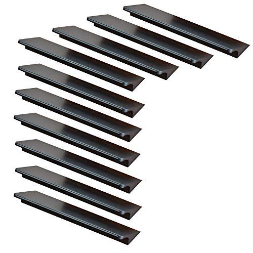 10x Qrity Manija de la Puerta Tiradores de las puertas del armario de la cocina armario ropero tire del cajón, Aluminio, con tornillos (96MM)