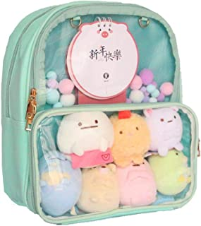 Patty Both Ita Bag Clear Backpack Transparent Window Candy PU Leather Backpack Kawaii Pins For Anime Lolita Bag DIY Cosplay