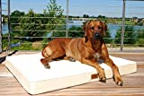 tierlando® Orthopädische Hundematratze HUGO ORTHO PLUS   XL 120 x 90 cm   Anti-Haar Polyester   Braun - 5