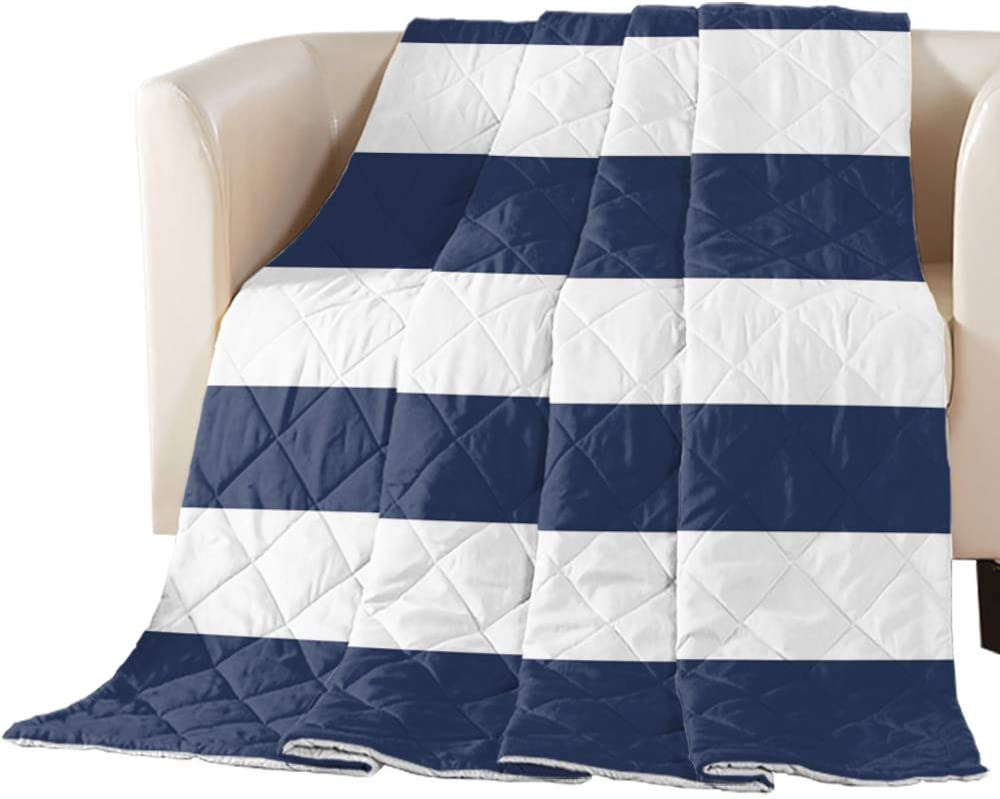 Nautical Outstanding Stripes Reversible Down Comforter Alternative Mail order Quilted