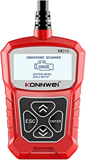 KKmoon KW310 Scanner automotivo universal, leitor de código automotivo profissional, ferramenta de digitalização de diagnó...