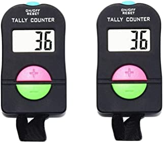 DBHappy Pack of 2 Pieces, Digital Hand Tally Counter Small Golf Sports Counter, Electronic Add/Subtract Manual Clicker