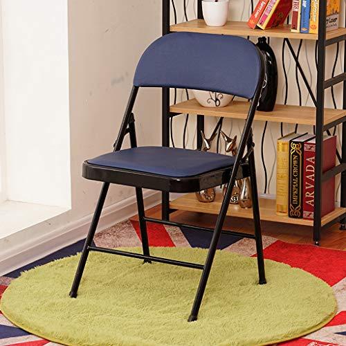 GXCNINIO GXC verbeterde klapstoel van leer, zitting voor draagbare multifunctionele bureaustoel, antislip voetsteun met stalen frame, gewicht 150 kg, klapstoel