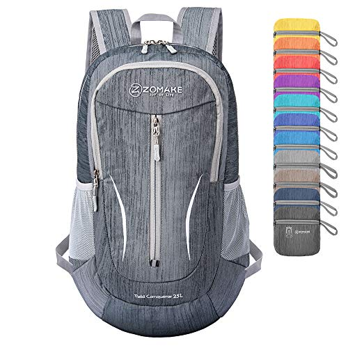 ZOMAKE Small Hiking Backpack, 25L Lightweight Travel Backpack Packable Backpack Daypack for Women Men -2020 Version-
