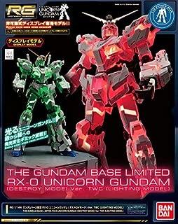 Bandai 1/144 RG RX-0 Unicorn Gundam (Destroy Mode) Ver.TWC Lighting Model Mobile Suit Gundam UC