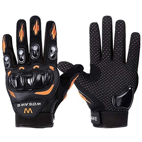 Fahrradhandschuhe Motorrad Handschuh Herren Winterhandschuhe Herren Mountainbike Handschuhe Herren Winterhandschuhe zum Radfahren orange,XL