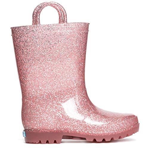 UGG Kids' Classic Short II Glitter Boot, Gold, 5 M US Big Kid
