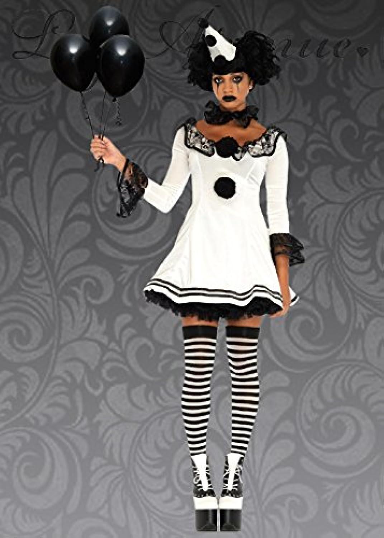 MagicBox Womens Gothic Black and White Clown Costume S M (UK 810)