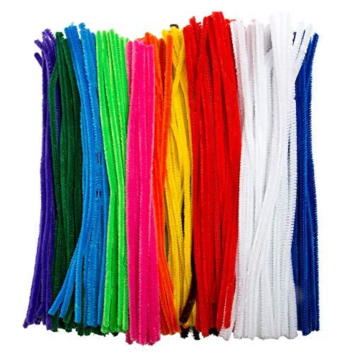 Edukit Jumbo Pack of 360 Pipe Cleaners - 10 Assorted Colours - Includes 60 Fluorescent Colours (360 pack)