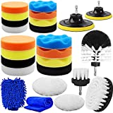 Yumzeco 25 Pcs Car Polish Kit Car Cleaning Kit with Polishing Pads,Drill Brushes for Cleaning,Car...