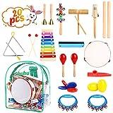 Instrument de musique enfant, Ohuhu 20 PCS de...