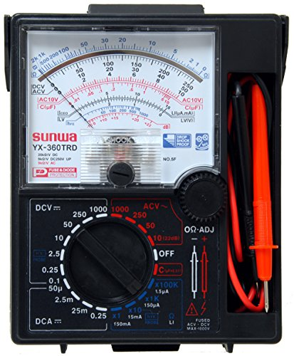 Sunwa YX360-TRD 7-Function 16-Range Analog Multimeter With One Touch Capacitance Estimation